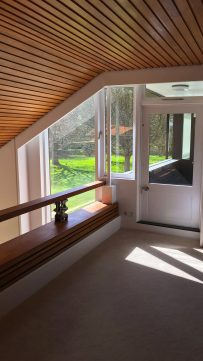 Private country house interior balcony