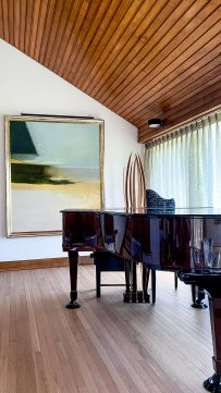Private country house interior music room