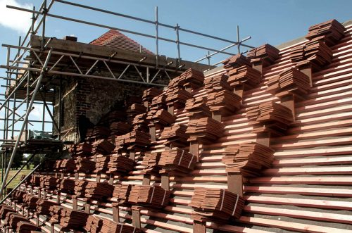 Re-roofing project at St Richard's Church, Burton